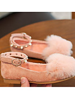 Girls' Shoes Flocking Fall Winter Comfort Sneakers For Casual Nude Blushing Pink Black