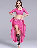 Accesorios Mujer Actuación Encaje Encaje La mitad de manga Cintura Baja Faldas Tops