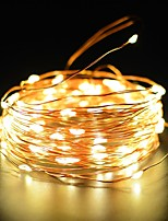 Copper Wire Fairy String Light 50ft 100LED 2 Modes Starry Strip Lights Waterproof IP65 Solar Decoration Halloween Garden Outdoor Home Bedroom Holiday