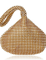 Women Bags Polyester Crossbody Bag Crystal Detailing for Event/Party Formal All Seasons Gold Black Silver