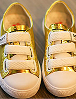Girls' Shoes Cowhide Fall Winter Comfort Sneakers For Casual Red Silver Gold