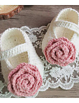 Girls' Shoes Wool Fall Winter Comfort Flats For Casual Blushing Pink Beige White