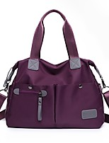 Women Bags Oxford Cloth Shoulder Bag Zipper for Casual All Seasons Black Red Dark Blue Purple