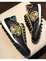 Men's Shoes Cowhide Spring Fall Comfort Sneakers For Casual Black/Blue Black/Yellow