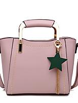 Donna Sacchetti Per tutte le stagioni PU (Poliuretano) Tote Perline per Shopping Nero Rosa Grigio