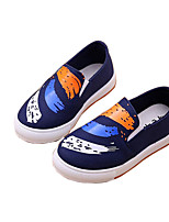 Boys' Shoes Canvas Summer Fall Moccasin Comfort Loafers & Slip-Ons Animal Print For Casual Outdoor Blushing Pink Blue Black