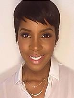 Women Human Hair Capless Wigs Black Short Straight Fashion Designer Designers Hot Sale