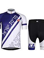 Cycling Jersey with Shorts Unisex Short Sleeves Bike Jersey Clothing Suits Lightweight Terylene LYCRA® Letter & Number Summer