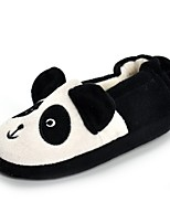 Girls' Shoes Fleece Fall Winter Comfort Light Soles Slippers & Flip-Flops Applique For Casual Black/White