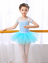 Shall We Ballet Outfits Children's Performance Cotton Short Sleeve High Skirts Leotard