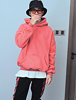 Men's Holiday Hoodie Solid Hooded Micro-elastic Others Long Sleeve Spring Fall