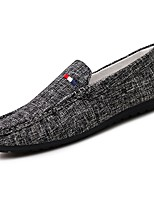 Men's Shoes Tulle Spring Fall Comfort Loafers & Slip-Ons For Casual Gray Black