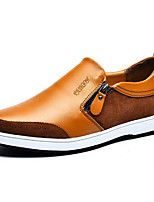 Men's Shoes Cowhide Summer Fall Comfort Sneakers For Casual Light Brown Blue Black