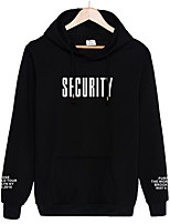 Men's Going out Hoodie Letter Hooded Micro-elastic Others Long Sleeve Spring Fall