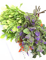 32cm 1 Pc 5 branches/pc Home Decoration Artificial Green Plants Herbal Tea