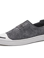 Shoes Synthetic Microfiber PU Spring Fall Comfort Loafers & Slip-Ons for Outdoor Black Gray Brown