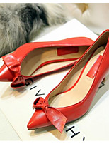 Women's Shoes Nappa Leather Spring Fall Basic Pump Wedding Shoes Stiletto Heel For Casual Blushing Pink Red Black