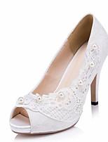 Femme Chaussures Soie Printemps Automne Confort Chaussures de mariage Pour Décontracté Blanc Beige