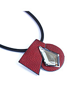 Women's Pendant Necklaces Rhinestone Circle Square Leather Basic Punk Personalized Rock Multi-ways Wear Jewelry For Wedding Party