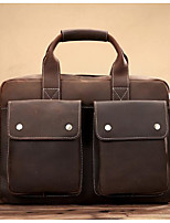 Women Bags All Seasons Cowhide Briefcase Zipper for Casual Coffee