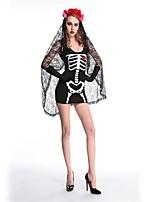 Zombie Vampire Costumes de Cosplay Bal Masqué Féminin Halloween Carnaval Fête d'Octobre Le jour des morts Fête / Célébration Déguisement