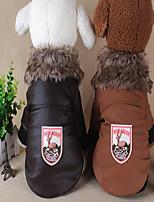 Cane Cappottini Abbigliamento per cani Cotone Inverno Casual Tenere al caldo Halloween Natale Renna Nero Caffè Rosso Per animali domestici