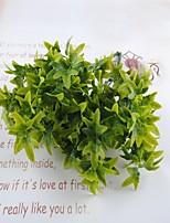 33cm 3 Pcs 7 branches/pc Home Decoration Artificial Green Plants Leaves