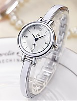 Women's Fashion Watch Quartz Alloy Band Silver Gold