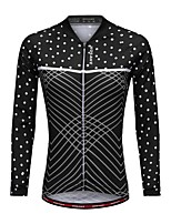 WOSAWE Cycling Jersey Women's Long Sleeves Bike Jersey Top Breathability Polyester Polka Dots Autumn/Fall Spring Mountain Cycling Road