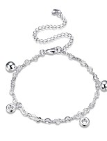 Women's Anklet/Bracelet Silver Plated Alloy Fashion Classic Circle Geometric Jewelry For Party Gift Daily Casual Evening Party