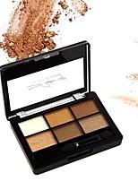 6 Paleta de Sombras Mate Brilho Mineral Paleta da sombra Maquiagem Esfumada Maquiagem para o Dia A Dia Maquiagem para Dias das Bruxas