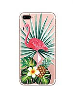 cheap -Case For Apple iPhone X iPhone 8 Transparent Pattern Back Cover Flamingo Soft TPU for iPhone X iPhone 8 Plus iPhone 8 iPhone 7 Plus