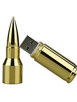 16gb металлическая пуля usb 2.0 usb флэш-накопитель ручка накопитель карта памяти pendrive u диск флеш-накопитель серебро / золото
