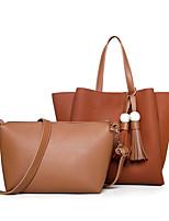 Women Bags All Seasons PU Bag Set 2 Pieces Purse Set Zipper for Shopping Casual Blue Black Red Gray Brown
