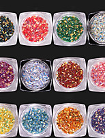 12 color 3D Diamond Sequins  The Diamond The Dynamic Flash Sequins 1g/box
