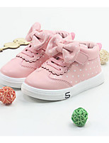 Girls' Shoes PU Fall Winter Comfort Sneakers For Casual Blushing Pink Black White