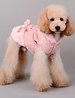 Cat Dog Coat Dog Clothes Casual/Daily Keep Warm Halloween Christmas Bowknot Coffee Pink Costume For Pets
