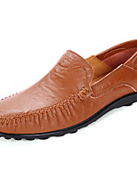 Men's Shoes Rubber Fall Moccasin Loafers & Slip-Ons For Outdoor Dark Brown Light Brown Black