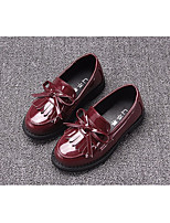 Girls' Shoes Real Leather Spring Winter Comfort Loafers & Slip-Ons For Casual Blushing Pink Red Silver Black