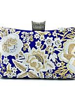 Damen Taschen Ganzjährig Seide Unterarmtasche Stickerei für Einkauf Normal Blau Schwarz Rosa Dunkelgrün Fuchsia