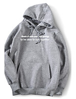 Men's Daily Going out Casual Hoodie Print Hooded Micro-elastic Cotton Long Sleeve Winter Fall