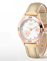Women's Fashion Watch Quartz Leather Band White Blue Red Gold Pink