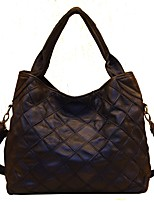 Women Bags All Seasons Cowhide Shoulder Bag Tiered for Casual Formal Black