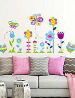 Botanique A fleurs/Botanique Mode Stickers muraux Autocollants avion Autocollants muraux décoratifs Matériel Décoration d'intérieur