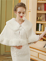 Women's Wrap Capelets Faux Fur Wedding Party/ Evening Rhinestone Printing Fur