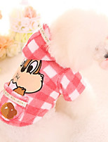 Dog Hoodie Dog Clothes Casual/Daily Cartoon Yellow Pink Costume For Pets