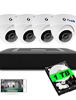 4ch 5 in 1 dvr kit built-in 1tb hdd 1080n 4pcs dome cctv telecamere sistema di sicurezza indoor day ir giorno