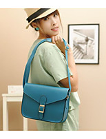 Women Bags PU Shoulder Bag Zipper for Casual All Seasons Blue Orange Khaki