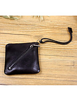 Women Bags All Seasons Cowhide Wallet Zipper for Event/Party Formal Black Brown