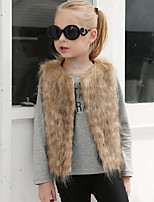 Faux Fur Wedding Party / Evening Kids' Wraps Vests